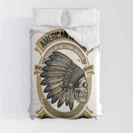 Native american. Indian chief Comforters