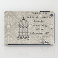 jane eyre iPad Cases featuring Jane Eyre: I am no bird by AfterThisChapter