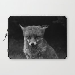 Fox In Black And White Laptop Sleeve