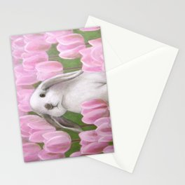 Bunny and Tulips Stationery Cards