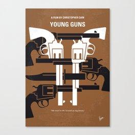 No916 My YoungGuns minimal movie poster Canvas Print