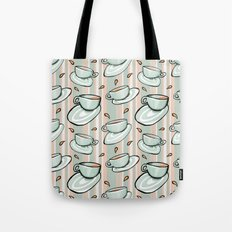 Cups Medley Green Stripes Tote Bag