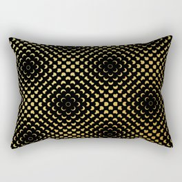 Black and gold pattern Rectangular Pillow