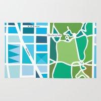 manhattan Area & Throw Rugs featuring Manhattan by Jenny Wallmark