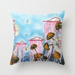 Bubble cats Throw Pillow