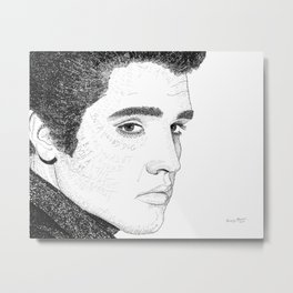 Elvis Presley - Word Art Metal Print