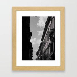 Sun bathing Stucco - Florence, Italy Framed Art Print