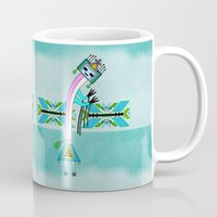 native american Mugs featuring Ceremonial Native American by BohemianBound