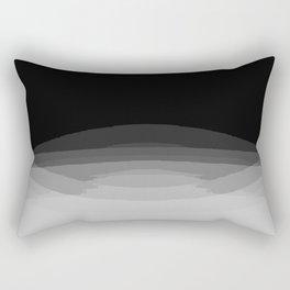 Gray Black Ombre Pattern Rectangular Pillow