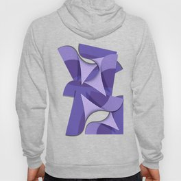Ultra Violet Abstract Waves Hoody