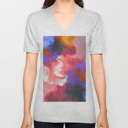 Colorful clouds in the sky II Unisex V-Neck