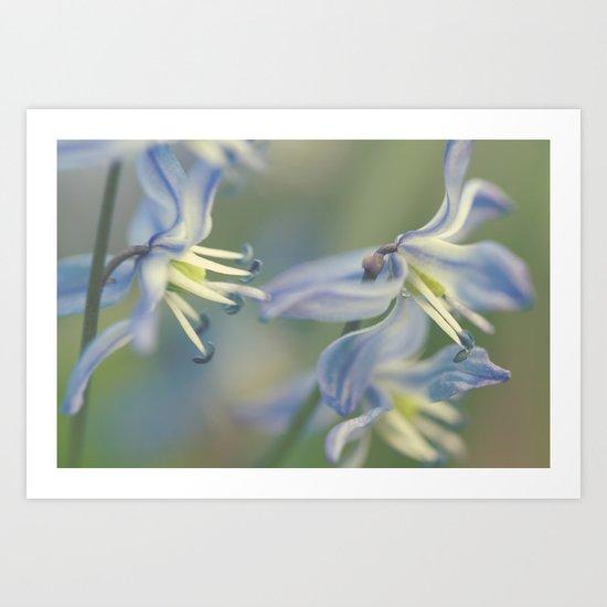 Fleur Bleue Art Print