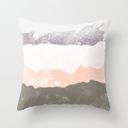 Soft rock peaks Throw Pillow