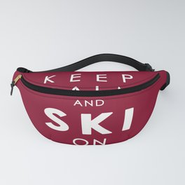 Keep Calm and Ski On Fanny Pack