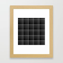 Back to School- Simple Handdrawn Grid Pattern - Black & White - Mix & Match with Simplicity of Life Framed Art Print