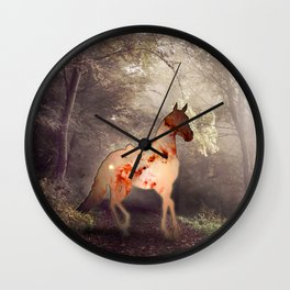 Horse warp out Wall Clock