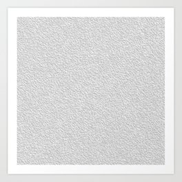 White grey stucco texture Art Print