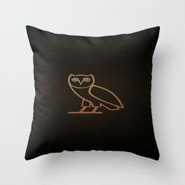 DRAKE Owl logo Throw Pillow