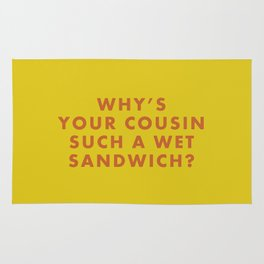"Fantastic Mr Fox - ""Why's your cousin such a wet sandwich?"" Rug"