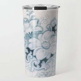 Vintage Flower Flow Travel Mug