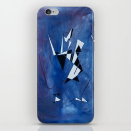 blue pattern art  iPhone Skin