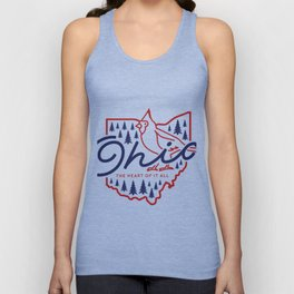Ohio State Line Art Unisex Tank Top