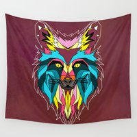 animals Wall Tapestries featuring animals by mark ashkenazi