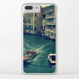 Venice, Grand Canal 3 Clear iPhone Case