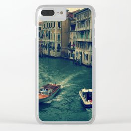 Venice, Grand Canal 3 Clear iPhone Case