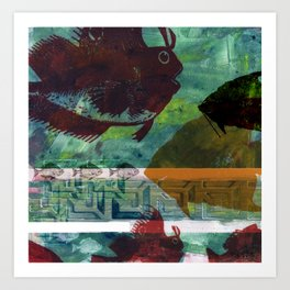 Fish Tank Traffic Art Print