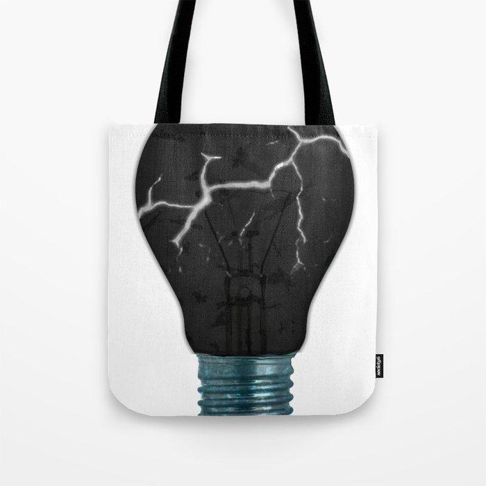 Broken Light Bulb Tote Bag