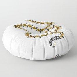 Olive Serpent Floor Pillow