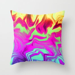 Chasing Fire Throw Pillow