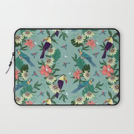 Toucans and Parrots in the Passion Flowers Laptop Sleeve