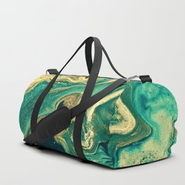 M A R B L E - emerald & brass Duffle Bag