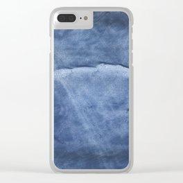 Dark slate blue Clear iPhone Case