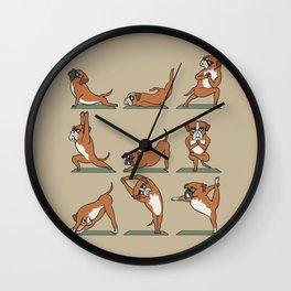 Boxer Yoga Wall Clock