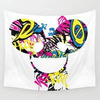 deadmau5 Wall Tapestries featuring Deadmau5 by Sitchko Igor