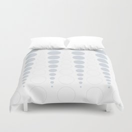 Up and down polka dot pattern in white and a pale icy gray Duvet Cover