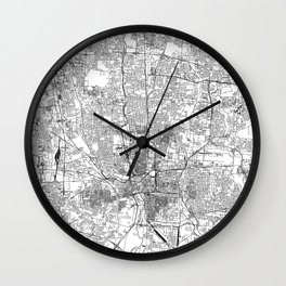 Columbus White Map Wall Clock