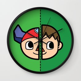 Old & New Animal Crossing Villager Comparison Wall Clock