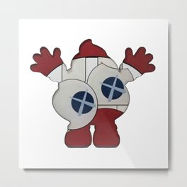 Happy Poop Metal Print