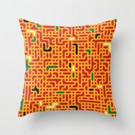 Alien pizza Throw Pillow