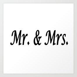Mr. & Mrs. Art Print