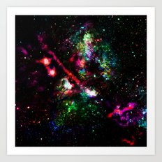 colorful nebula i Art Print