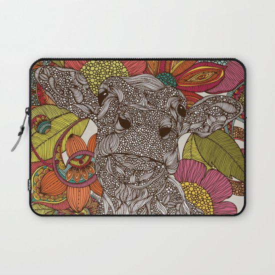 Arabella and the flowers Laptop Sleeve