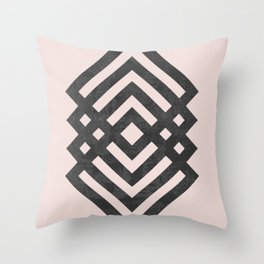 Geometric loop Throw Pillow