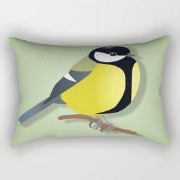 Black tit Rectangular Pillow