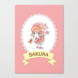Sakura kawaii Canvas Print