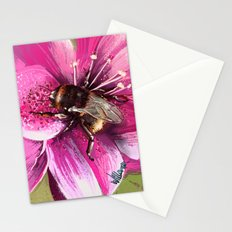 Bee on flower 13 Stationery Cards